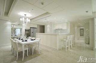 欧式风格简洁15-20万130平米餐厅吧台餐桌效果图
