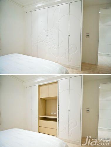 130平米欧式风格卧室衣柜装修图片