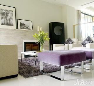 简约风格15-20万120平米客厅沙发新房平面图