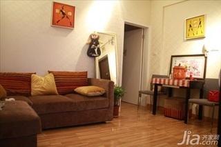 混搭风格二居室3万以下50平米客厅沙发婚房家装图片