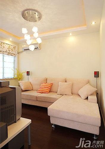 简约风格一居室5-10万60平米装修图片