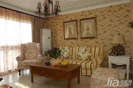 美式乡村风格二居室5-10万100平米装修图片