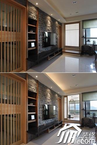 简约风格三居室富裕型130平米客厅电视背景墙电视柜图片
