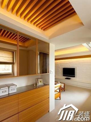 美式乡村风格公寓经济型90平米衣帽间吊顶玄关柜图片