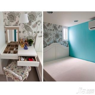 田园风格60平米卧室梳妆台图片