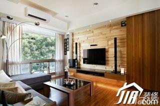日式风格小户型富裕型70平米玄关隔断茶几效果图