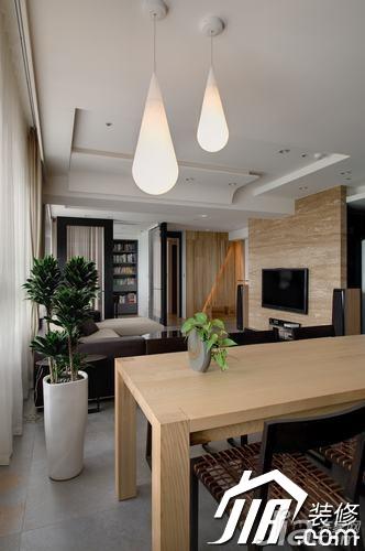 简约风格三居室富裕型玄关吧台餐桌效果图