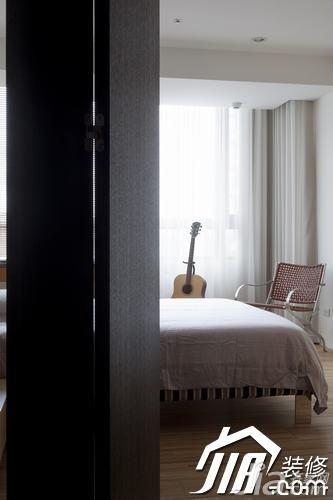 简约风格三居室富裕型玄关吧台床效果图