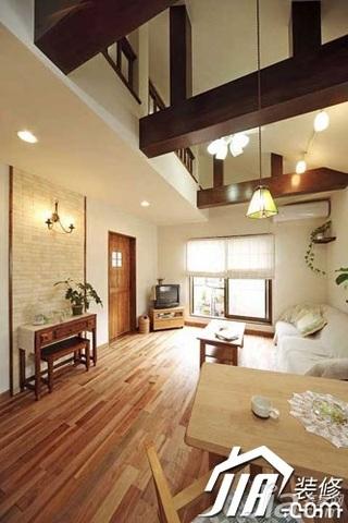 日式风格小户型原木色5-10万80平米玄关沙发效果图