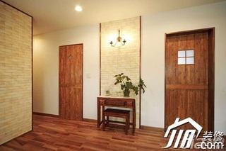 日式风格小户型5-10万80平米玄关走廊设计图