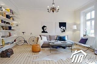 宜家风格小户型经济型80平米客厅沙发效果图