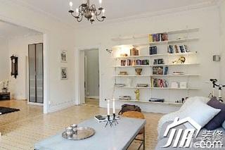 宜家风格小户型经济型80平米客厅书架效果图
