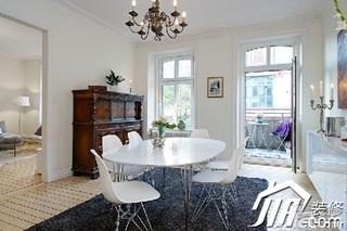 宜家风格小户型经济型80平米餐厅餐桌效果图