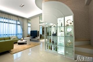 混搭风格二居室60平米楼梯酒柜效果图