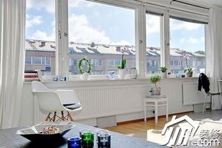 北欧风格一居室经济型40平米客厅窗帘效果图
