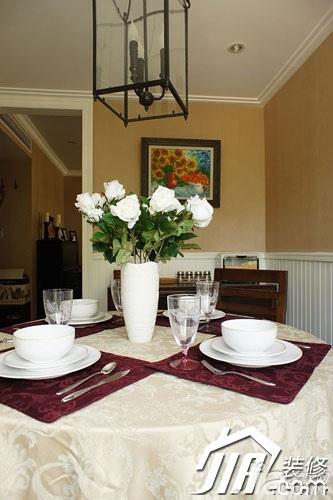 美式风格小户型富裕型90平米厨房餐桌婚房设计图