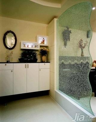 简约风格三居室70平米玻璃隔断装修效果图