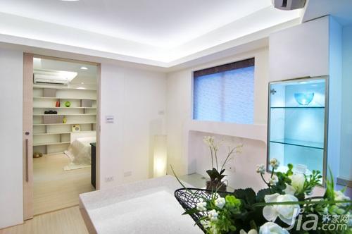 简约风格一居室5-10万40平米装修效果图
