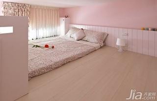 混搭风格一居室可爱粉色10-15万卧室卧室背景墙床效果图
