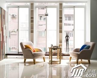 简约风格三居室富裕型单人沙发图片