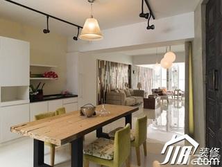 简约风格三居室富裕型餐厅餐边柜效果图