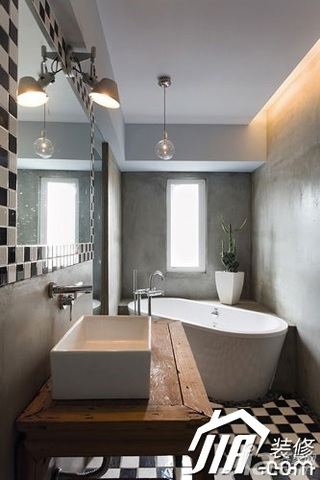简约风格三居室富裕型浴缸图片