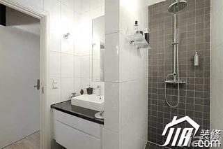 欧式风格二居室富裕型卫生间洗手台图片