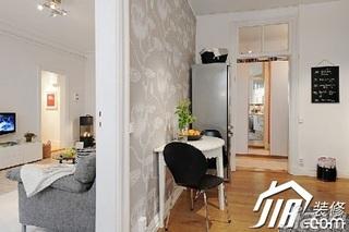 宜家风格小户型经济型客厅壁纸效果图