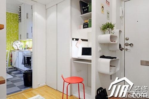 宜家风格小户型经济型50平米玄关玄关柜效果图