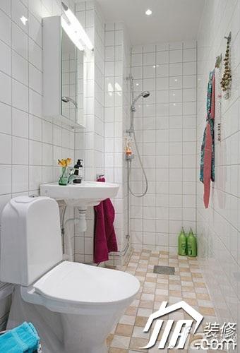 宜家风格小户型经济型50平米卫生间装修高清图片
