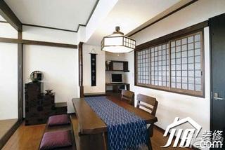 日式风格小户型经济型90平米餐厅餐桌婚房家装图