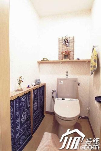 日式风格小户型经济型90平米卫生间婚房设计图
