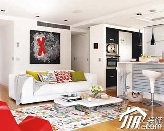 混搭风格小户型富裕型客厅吧台沙发效果图