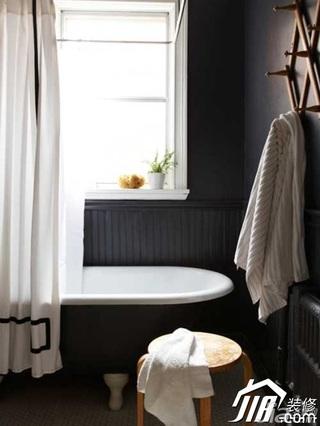 二居室简洁黑白80平米卫生间设计图纸