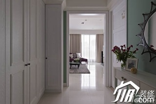 美式乡村风格三居室富裕型130平米过道衣柜设计