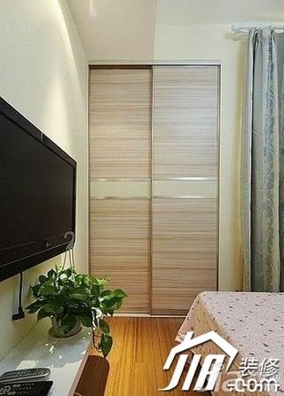 简约风格一居室富裕型60平米卧室衣柜设计图