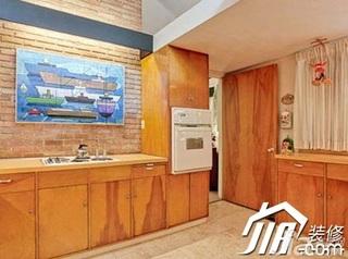 混搭风格小户型富裕型背景墙洗手台效果图