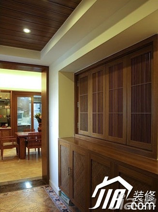 中式别墅图片140平米以上玄关鞋柜别墅小区广州风格宜居图片