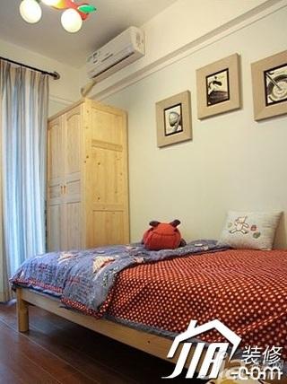 中式风格别墅140平米以上卧室床效果图