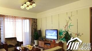 中式风格别墅140平米以上客厅背景墙电视柜效果图