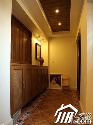 中式风格别墅140平米以上玄关鞋柜效果图
