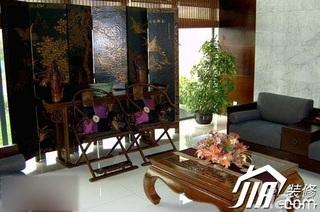 中式风格别墅古典140平米以上客厅沙发效果图