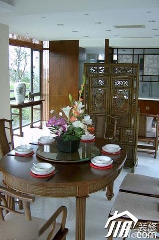 中式风格别墅140平米以上餐厅屏风效果图
