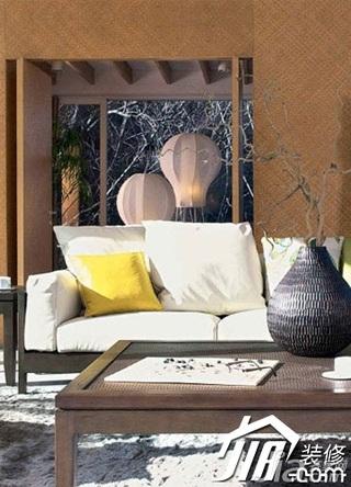 中式风格跃层10-15万120平米客厅沙发效果图