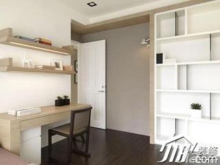 中式风格别墅140平米以上卧室书桌效果图