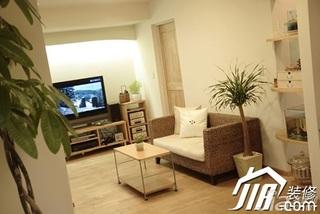 日式风格二居室80平米客厅沙发效果图