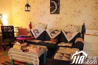 混搭风格3万-5万60平米客厅沙发背景墙沙发图片