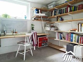 简约风格复式豪华型130平米书房书桌效果图