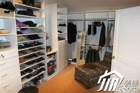 田园风格复式70平米衣帽间衣柜图片