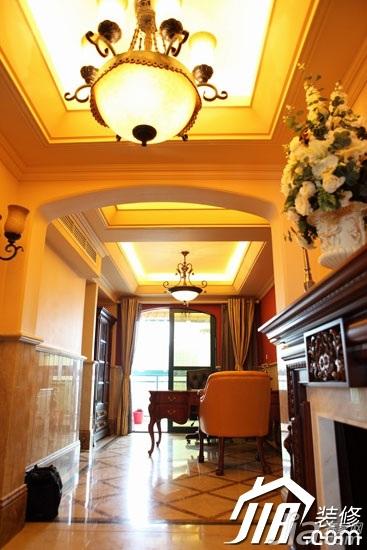新古典风格别墅温馨冷色调豪华型客厅沙发图片